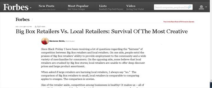 box store verses local stores